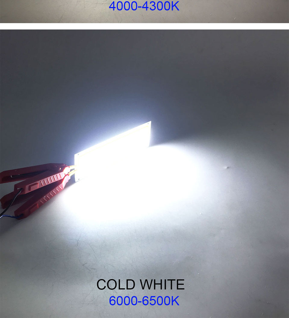 COOLEEON 12036mm COB LED Bulb DC 12V 10W Light Emitting Diode Red Blue Warm Natural Cool White LED Lamp for DIY Car Lighting (11)