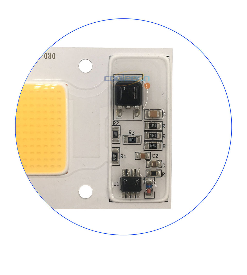 Full Spectrum COB LED Lamp 50W 95% RA 220V AC COB Chip Smart IC for Plant Frow Lights Floodlight Lighting Source Warm Cold White (4)