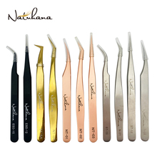 NATUHANA Professional for 3D Tweezers Stainless Steel Volume Eyebrow Tweezer False Eyelash Extension Tweezers for Makeup Tools