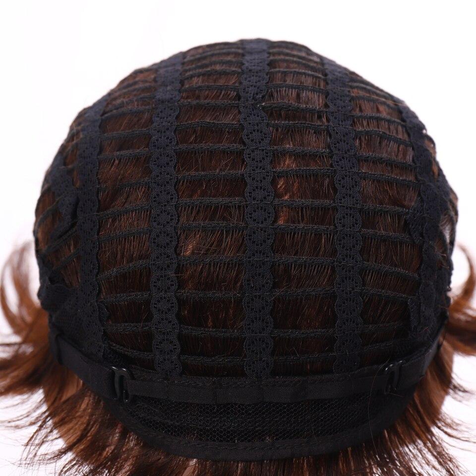Full machine made short wigs for black women pixie cut wig human hair wigs for women natural brown short human hair wigs