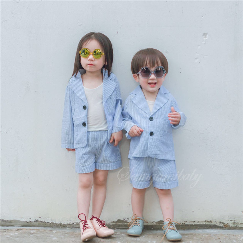 Baby Girl Clothes Set Children Clothing Summer 2020 European and American Style Boys Girls Sunscreen Suit Shorts Two-piece