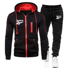 Sweater-Set Pants Clothing-Sets Tracksuit Hoodies Reebok Men Men's New-Brand Sports Zipper