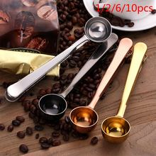 Tea-Scoop Sealing-Powder Kitchen-Supply Coffee Stainless-Steel Clip Drinkware-Tools