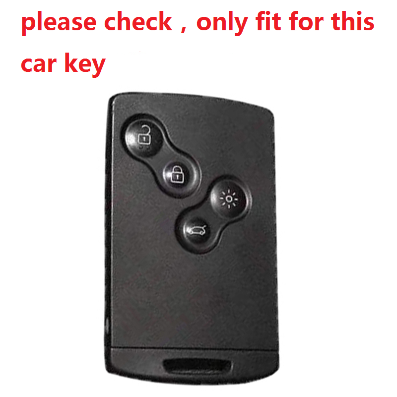 4 Buttons ABS Car Key Case Cover For Renault Duster Captur Clio Logan Megane 1 2 3 Koleos Scenic Card Auto Styling Accessories