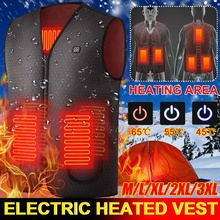 Jacket Heated Thermal-Cloth Electric Hunting Outdoor Winter Cotton Warm Hiking Camping