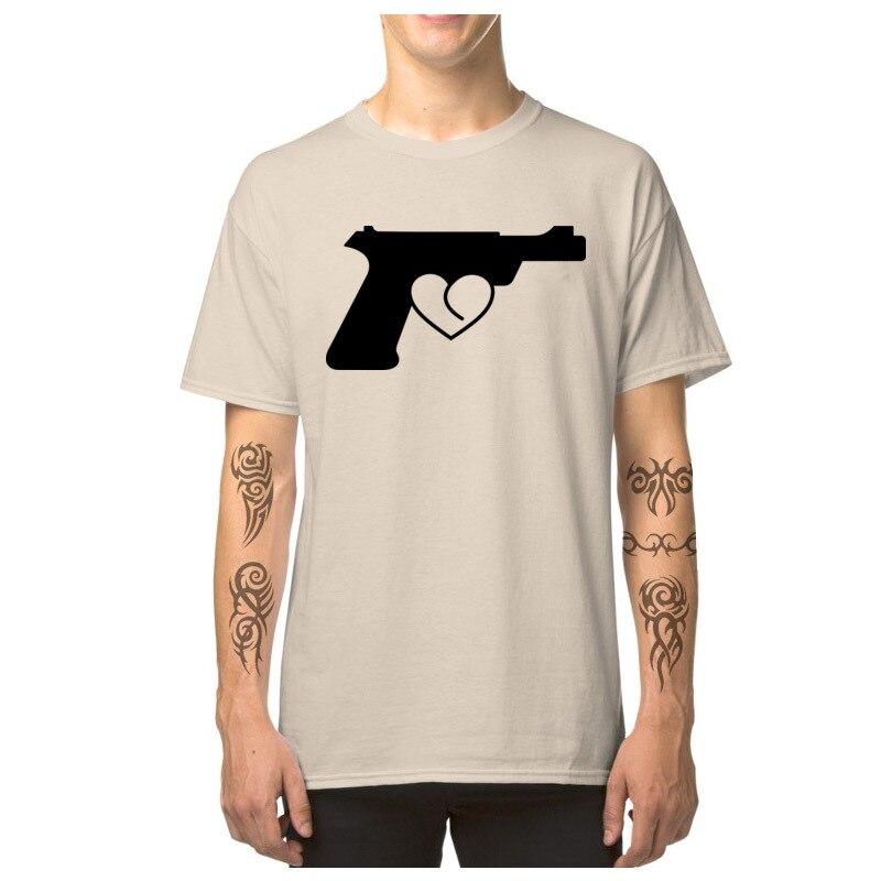Love_Gun_7164 T Shirt 2018 Round Neck Simple Style Short Sleeve Pure Cotton Man Top T-shirts Custom T Shirt Top Quality Love_Gun_7164 beige