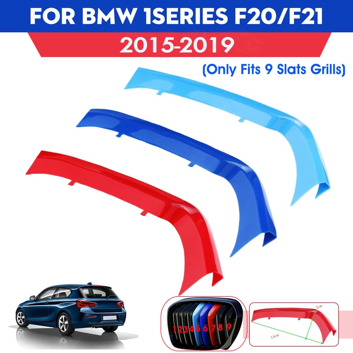 1x M LOOK Gloss Black Kidney Grille TWIN SLAT for BMW F20 F21 1 Series LCI 15-17
