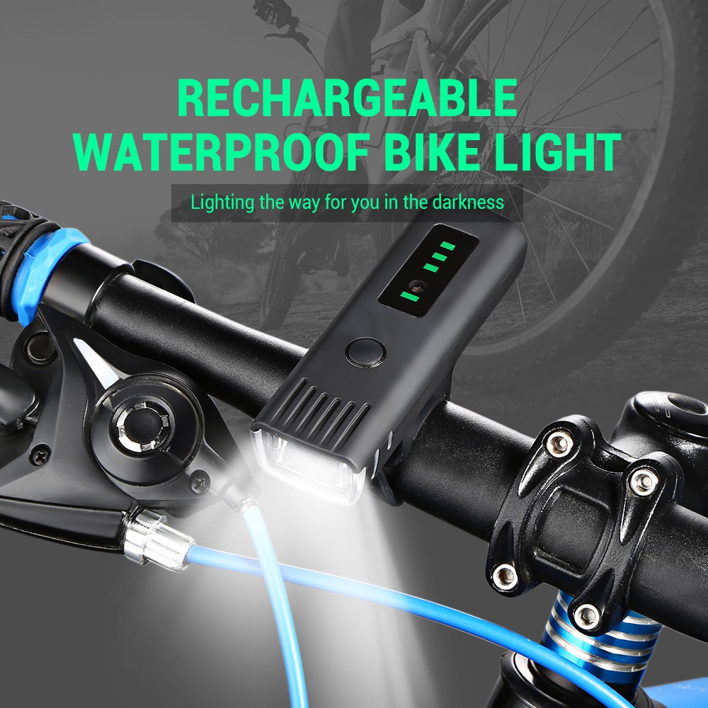 Bike Headlight LED Bicycle Light USB Rechargeable Cycling Safety Lamp Flashlight