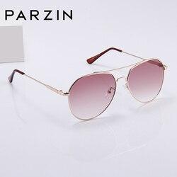 Мужские/женские брендовые летные очки PARZIN, коричневые очки с линзами с зеркальным покрытием, очки с оправой из металлического сплава и защи...