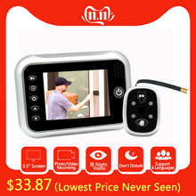 Peephole-Camera Door-Bell-Viewer Lcd-Color-Screen Night-Door Digital Photo/video-Recording