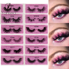 5D Real Mink Lashes Eyelashes Cruelty Free 100% Handmade Natural Thick Reusable 3D False Eyelashes Extension Make Up