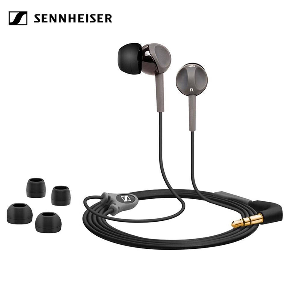 Стереонаушники Sennheiser CX180 StreetII, проводная гарнитура 3,5 мм, спортивные наушники для бега, HIFI наушники для iPhone, Androd, музыкальная игра