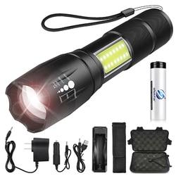 Супер яркий светодиодный фонарик с COB боковым светом 4 режима освещения водонепроницаемый светодиодный фонарик для кемпинга, приключений, н...