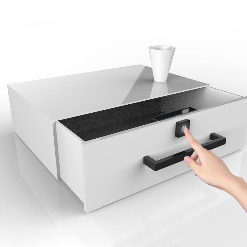 Fingerprint Lock Shoe-Cabinet Security-Lock Smart Box Letter Intelligent Anti-Theft title=