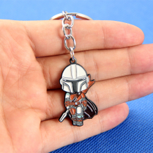Classic Movie The Mandalorian Alloy Metal Key Chain Key Ring Keychain For Your Backpack Bag Decoration Jewelry Accessories