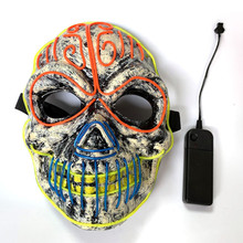 Costumes Flash-Mask Led-Light Halloween-Decoration Glowing Cosplay -40 Up Party Carnival