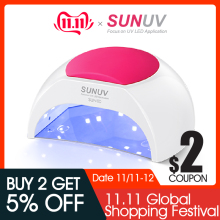 SUNUV Nail-Lamp Infrared-Sensor Salon-Use UVLED SUN2 Gel 48W for with Rose Silicone-Pad