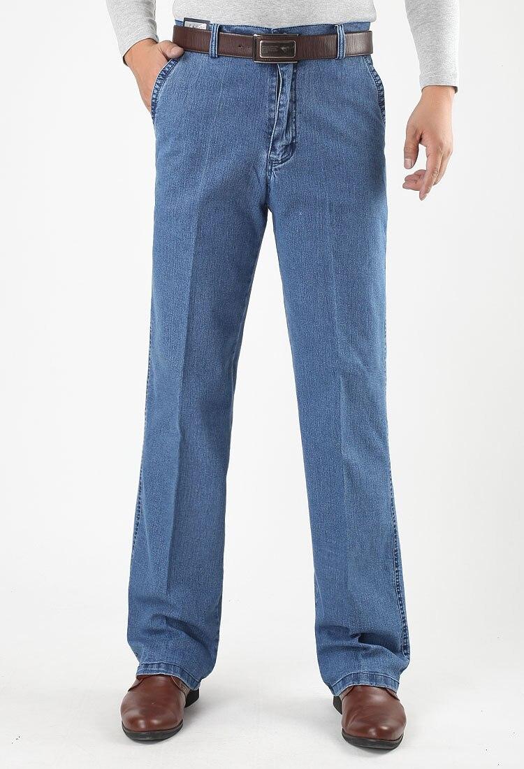 Jeans Para Hombre Comfort Algodón Lavado Vintage estiramiento Loose Fit Pantalones De Mezclilla 30-48