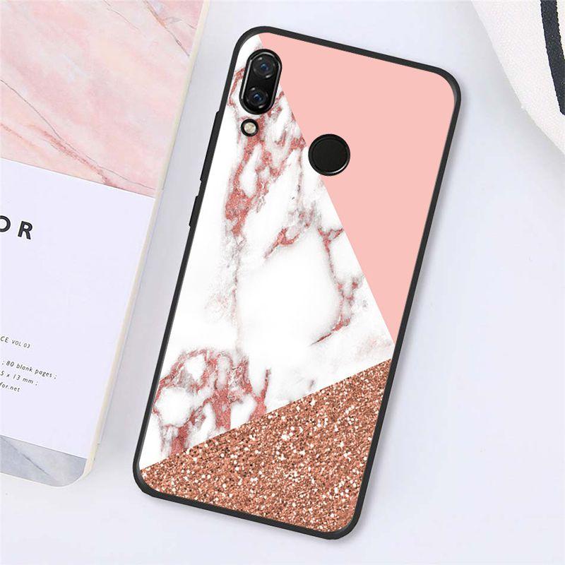 Fashion Pink White Marble Pattern
