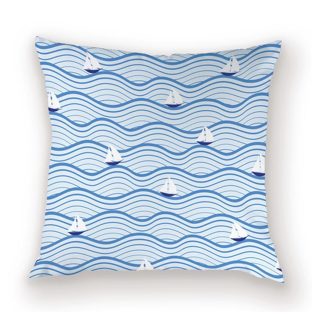 Stripe Boat Throw Pillow Case Fashion Geometric Decorative Cushion Covers for Sofa 45*45 Cushions Cover Blue Decor Home Pillows