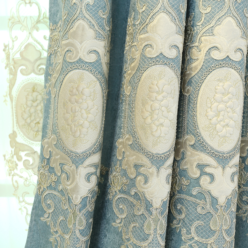 FYFUYOUFY High shade custom European style jacquard Blackout curtains for Living Room Windows High quality curtains for Bedroom
