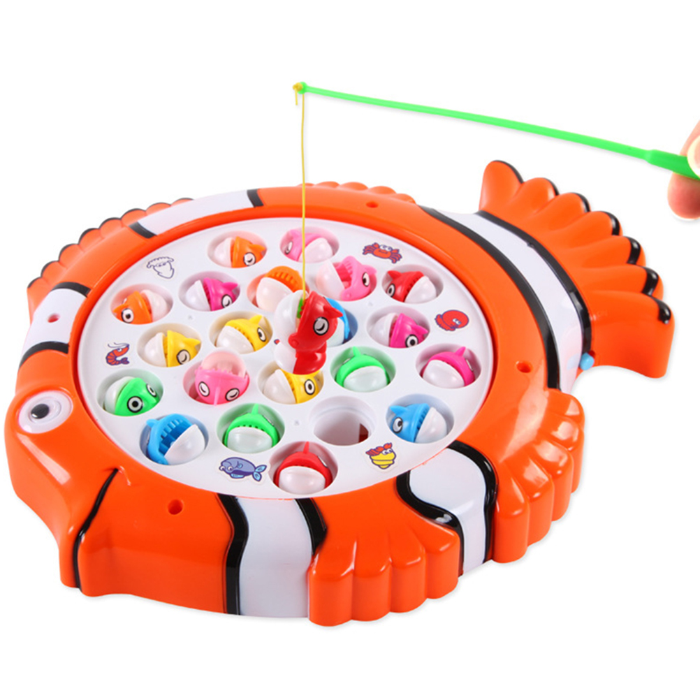 Fish Game Toy Fishing Musical Toys Kids Fishing Rod Set Board Games Role Play