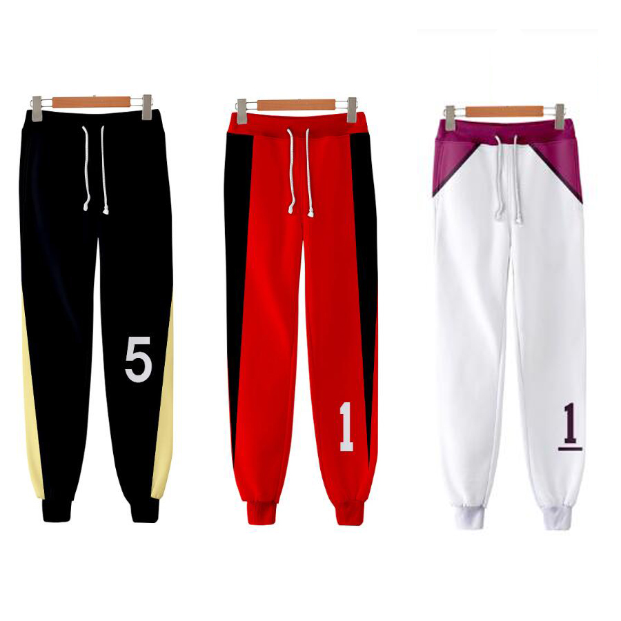 Anime Haikyuu 3D Joggers Pants Men/Women Casual Sweatpants Hinata Shoyo Oikawa Tooru Kozume Kenma Tendo Satori Cosplay Costumes