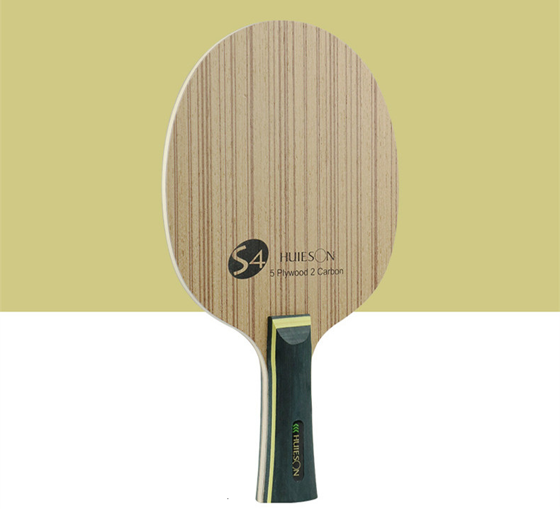 Huieson Professional Technology 5 Ply Composite Wood 2 Carbon Layer Table Tennis Racket Blade for LoopKilling Players S4 (1)