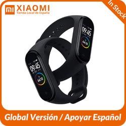 Глобальная версия Xiaomi mi Band 4 умный Браслет AMOLED экран mi band 4 Smartband фитнес-шейкер Bluetooth водонепроницаемый смарт-браслет 4