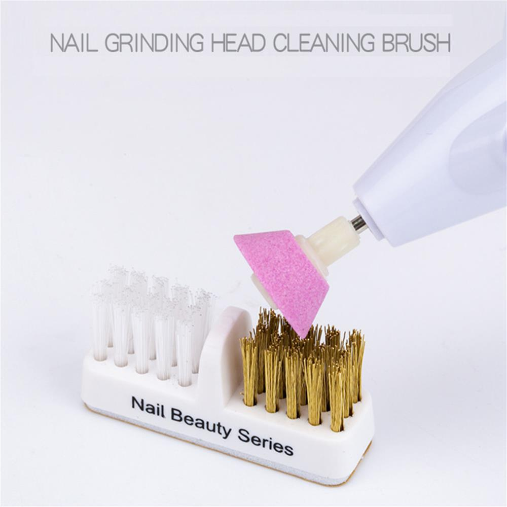 1Pc Electric Manicure Drills Cleaning Brush Cleaner Nail Drill Bit Clean Tool Copper Wire Drill Brush Dental Drill Bit Clean Too