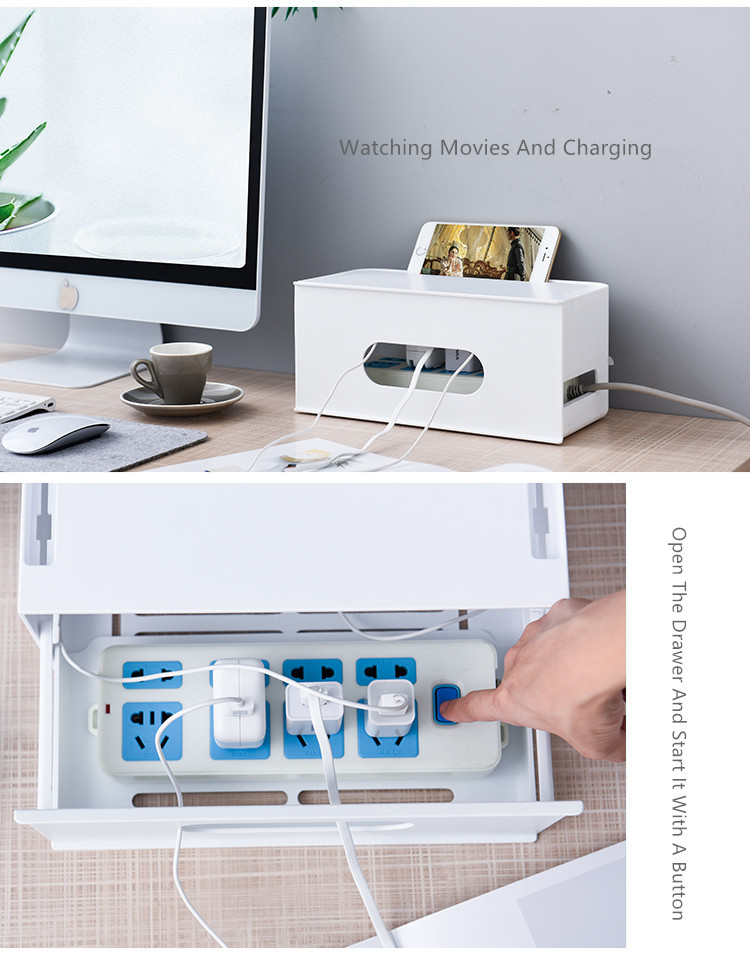Double Layers Drawer Type WIFI Router Storage Box 71