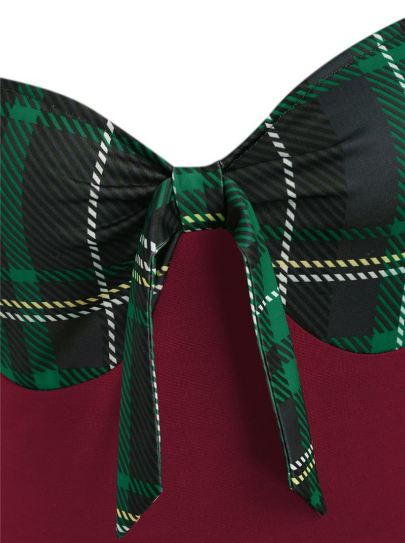 9269burgundy with green plaid (3)