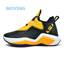 Cushioning-Light Basketball-Shoes High-Top Mesh Outdoor Breathable Men Professional Men's