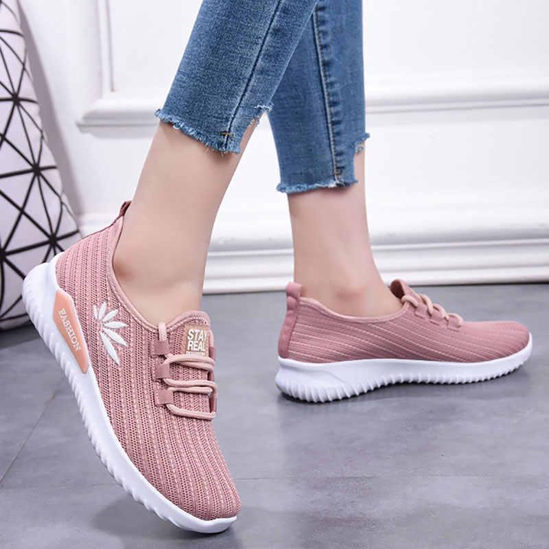 Memela Womens Lace-up Fashion Sneaker Outdoor Casual Shoe Breathable Mesh Breathable Shoes