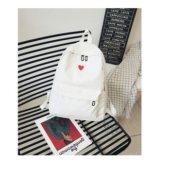 South Korea lovely ins soft bag female student Japanese Harajuku backpack small fresh ulzzang white backpack