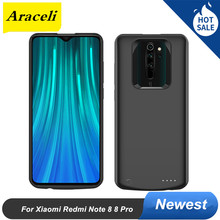 Araceli 6500 мАч для Xiaomi Redmi Note 8 Note 8 Pro Чехол для аккумулятора Smart Backup Charger Cover Power Bank Note 8 Pro Чехол для аккумулятора(China)