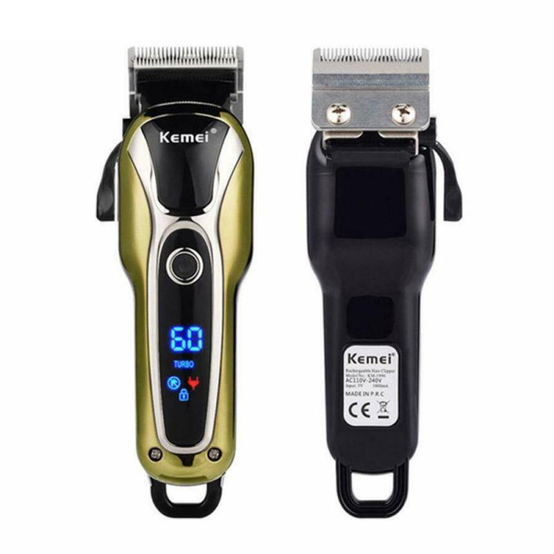 Flashlight - Kemei Rechargeable Hair Trimmer Professional Hair Clipper Hair Shaving Machine Hair Cutting Beard Electric Razor