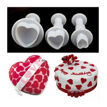 Plunger Mold Cutters Stamp Cookie Kitchen-Baking Star Heart-Shape Fondant 3 3pcs/Set