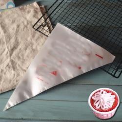 Одноразовый мешок для кондитерских изделий, 50 шт., маленький/большой размер, глазурь, крем для торта, инструмент для украшения кондитерских ...