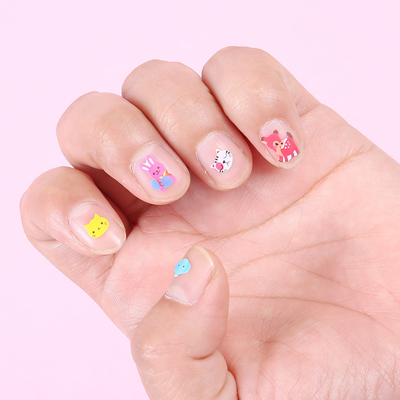 3pcs Cute Animal Universal fingernail friend cartoon fun decals safe non-toxic children baby nail stickers Children's Nail Art