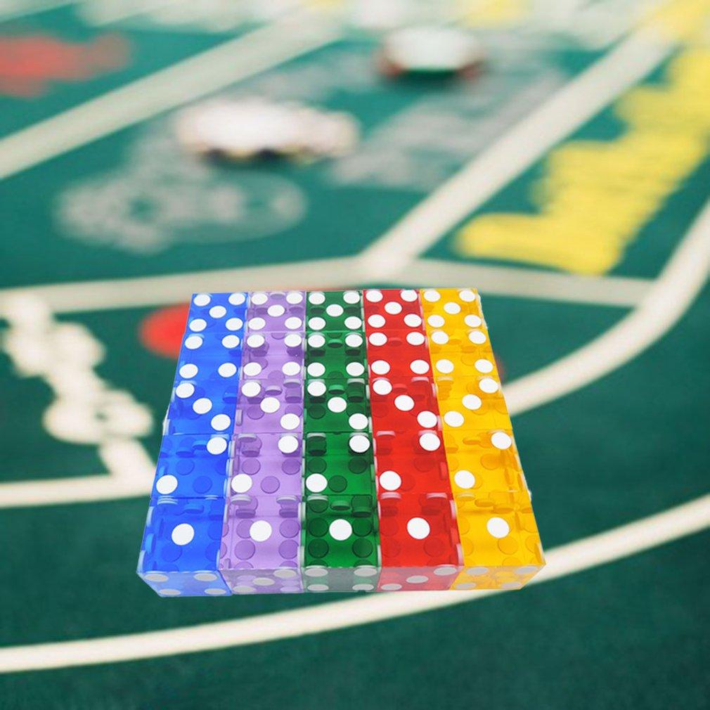 rot Tellaboull 5 St/ück 19mm Casino W/ürfel mit den Kanten und Seriennummern durchscheinend klar D6 W/ürfel echte W/ürfel