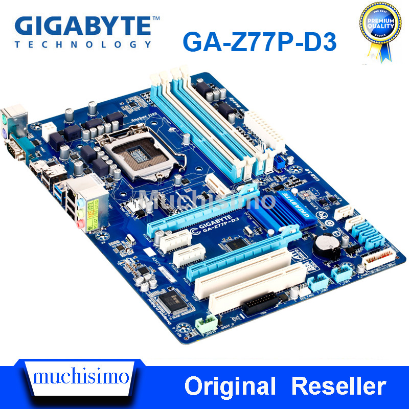 LGA1155 Mainboard USB3.0 Desktop SATA3 Z77 GA-Z77P-D3 Gigabyte DDR3 Used 32G Work-Steady title=
