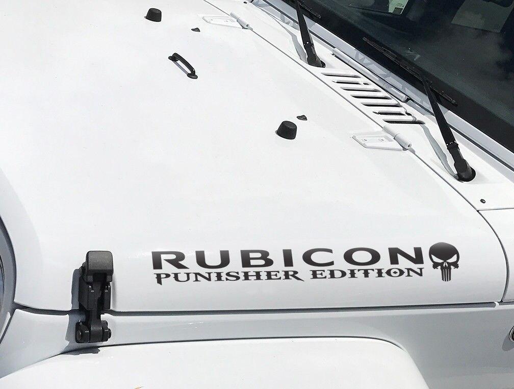 Punisher star jeep Wrangler Hood Decal JK TJ YJ CJ RUBICON