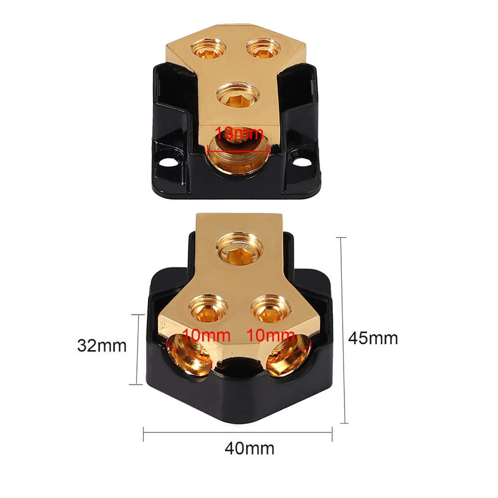Ditribution Block 0//2//4 Gauge in 2//4//8 Gauge Out Power Distribution Block 1 in 5 Ways Out Amp Power Ground Distribution Blocks 1 in 5 Out