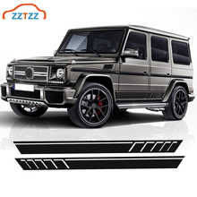 Decal Stickers Skirt G63 W463 Car-Side Vinyl 1set for G500 Sill G65
