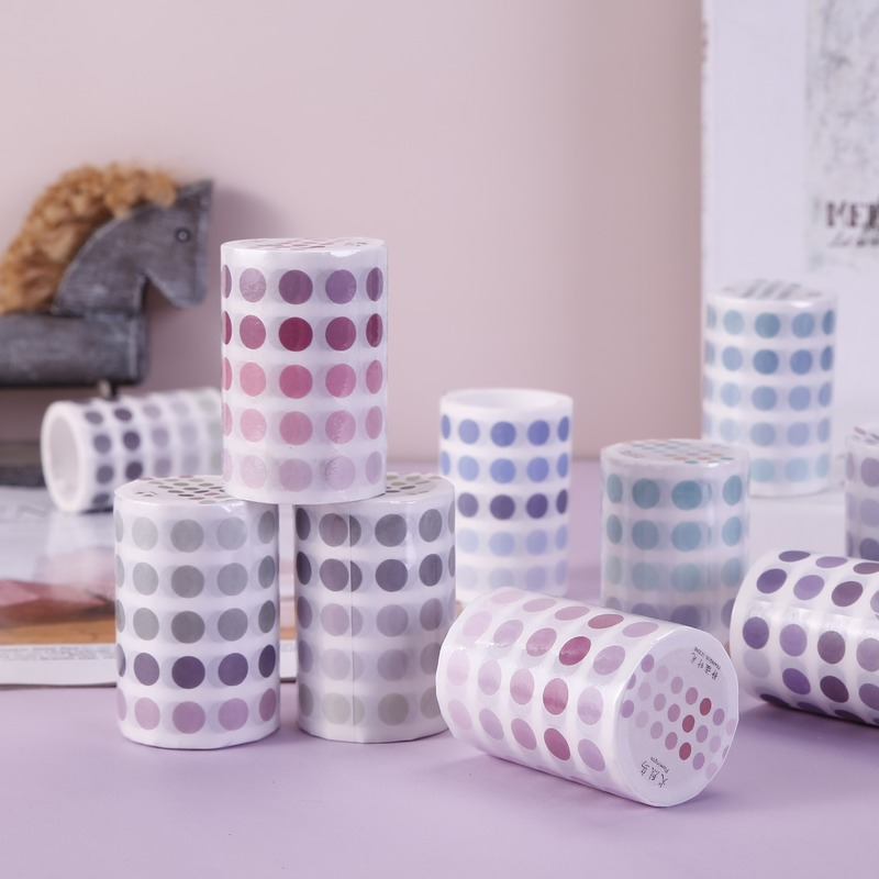 Cute Dot Wide Masking Washi Tape Gradient Japanese Paper Tape Student Stationery DIY Decoration Bullet Journal Adhesive Sticker
