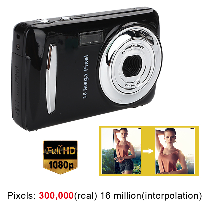 HD Camera Video-Recorder Mini 16MP Ultra-Clear 1080P Black DVR Precise title=