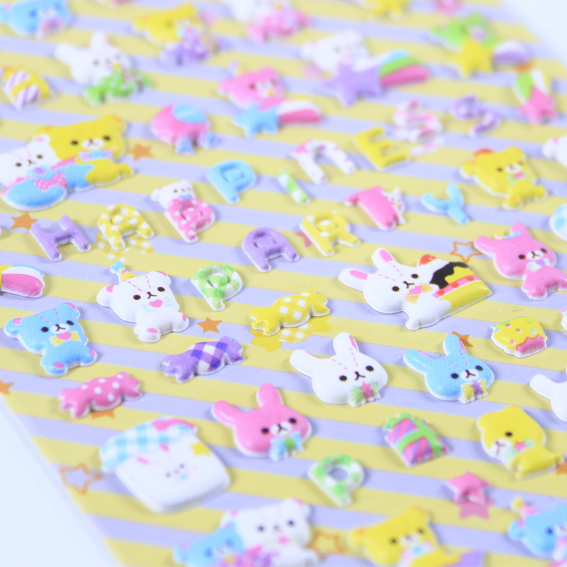 New Arrival Cute Mini Animals Puffy 3D Stickers DIY Scrapbooking  Sticker Diary Stationery Decorative Supply