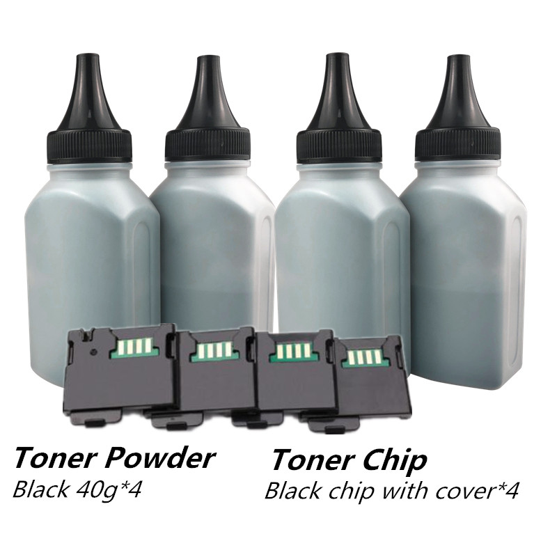 4 Black toner with 4 Black Chip Compatible Toner powder For Xerox Phaser 6020 6022 Workcentre 6025 6027 Laser Printer RU EURO