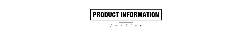 1 Product information